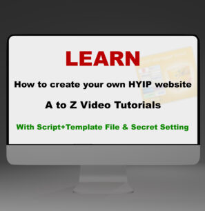 Learn Complete Hyip Building Course in English